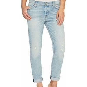 Hudson Riley Crop Relaxed Straight Jeans Sz 25 EUC